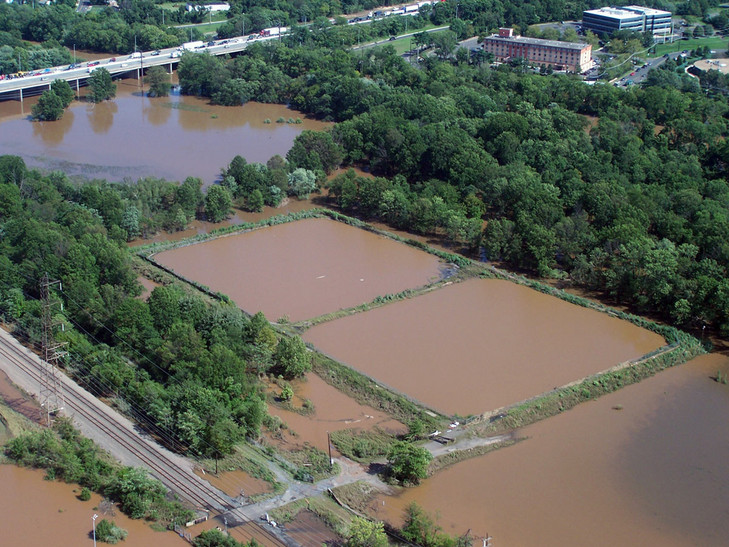 flooded toxic lagoons
